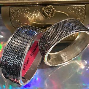 Silver mermaid sequin bracelet Betsey Johnson vtg